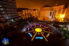 Light performance Oviedo Unesco Logo 2014