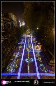 Light performance Noche Blanca de Oviedo 2013