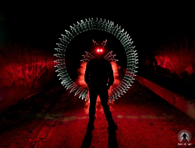 Riders of Light Metacrilato