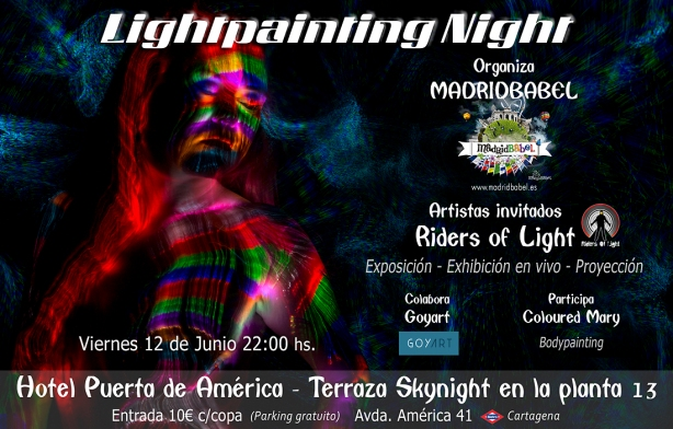 Flyer Lightpainting Night OK