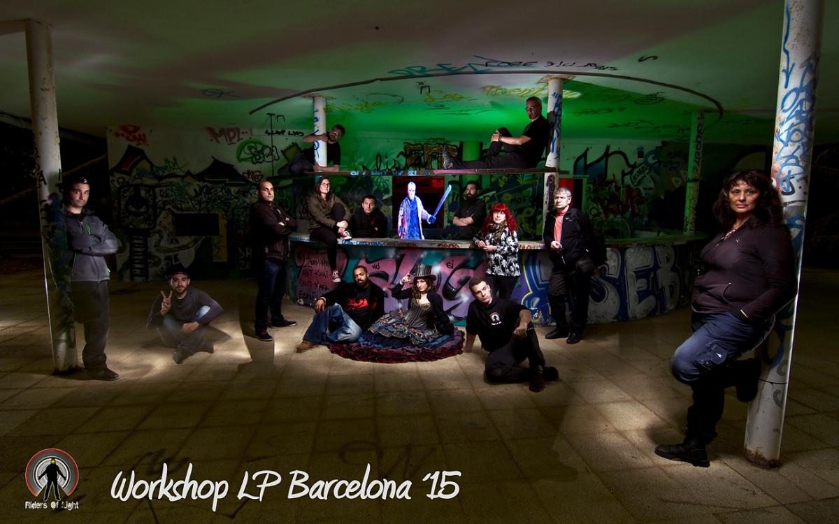2015 Workshop Light painting Barcelona mayo