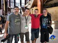 Con Eduard FS, Edu Cajigal y Manu Míguez