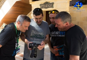 Con Eduard FS, Manu Míguez e Iván HLP