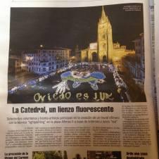 Recorte periódico Oviedo es luz