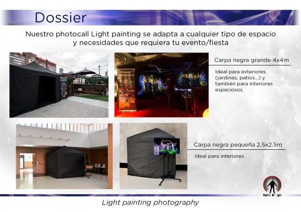 Set Photocall Light Painting
